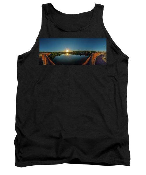 American River At Sunrise - Panorama Tank Top