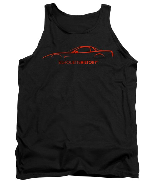 American Sports Car Silhouettehistory Tank Top