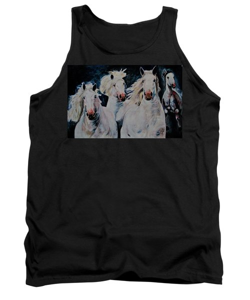 American White Tank Top by Khalid Saeed