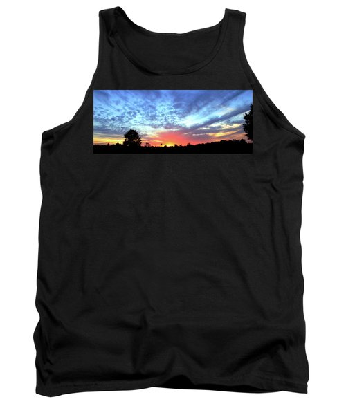 Tank Top featuring the photograph City On A Hill - Americus, Ga Sunset by Jerry Battle