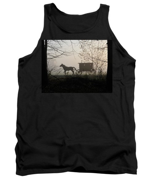 Amish Buggy Foggy Sunday Tank Top
