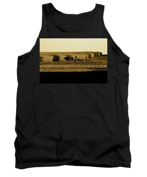 Amish Cornfield In Shadows Tank Top