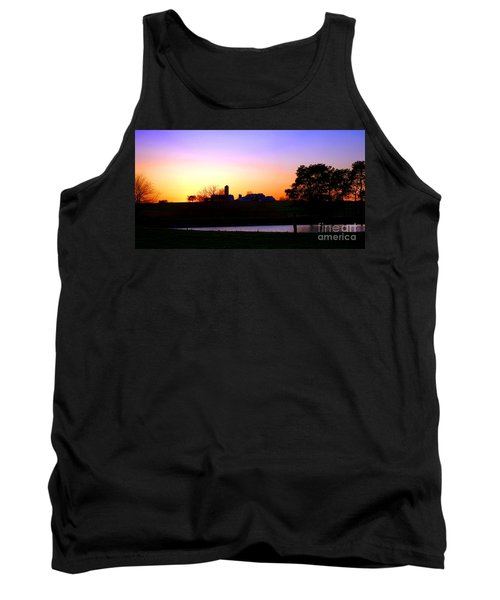 Amish Farm Sunset Tank Top