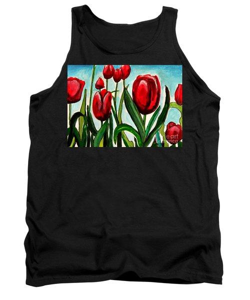 Among The Tulips Tank Top