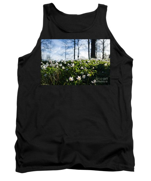 Tank Top featuring the photograph Among Windflowers On The Ground by Kennerth and Birgitta Kullman