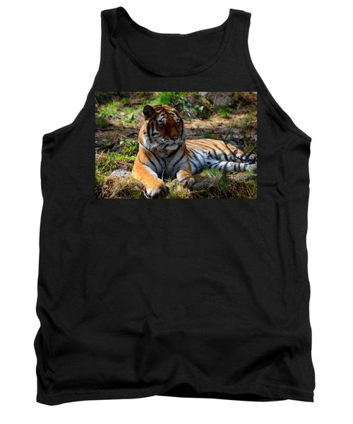 Tank Top featuring the mixed media Amur Tiger 1 by Angelina Vick