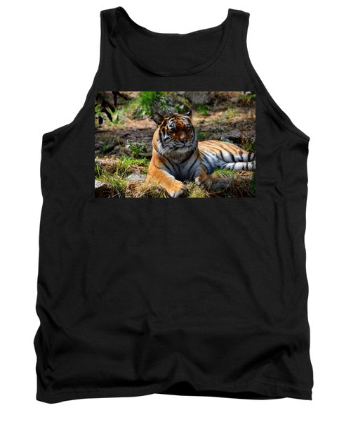 Tank Top featuring the mixed media Amur Tiger 10 by Angelina Vick