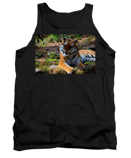 Tank Top featuring the mixed media Amur Tiger 4 by Angelina Vick