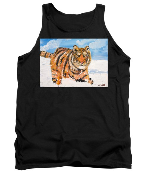 Amur Tiger Tank Top by Valerie Ornstein