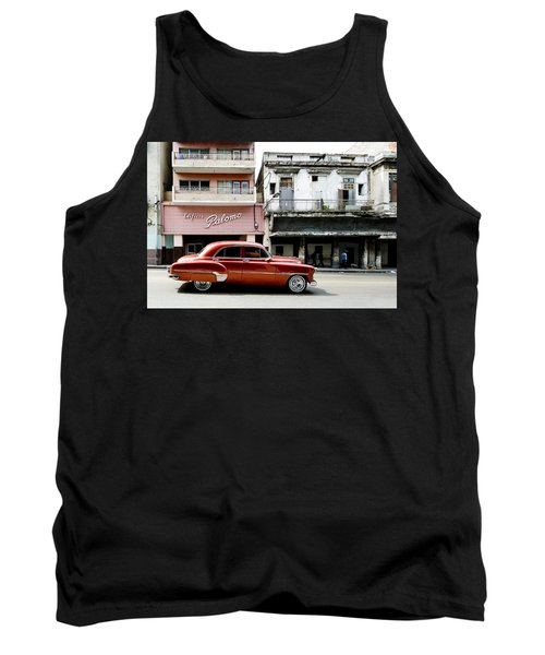 Tank Top featuring the photograph An American In Havana by Denis Rouleau