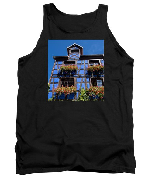 Ancient Alsace Auberge In Blue Tank Top