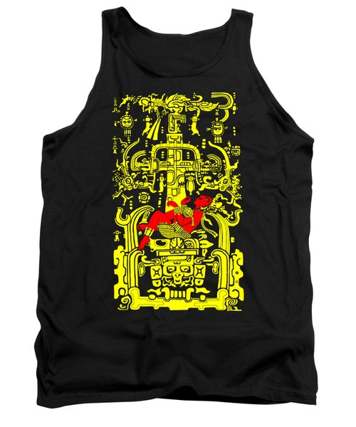 Ancient Astronaut Yellow And Red Version Tank Top