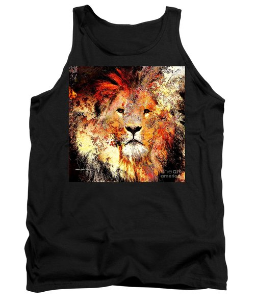Ancient Lion King Tank Top by Annie Zeno