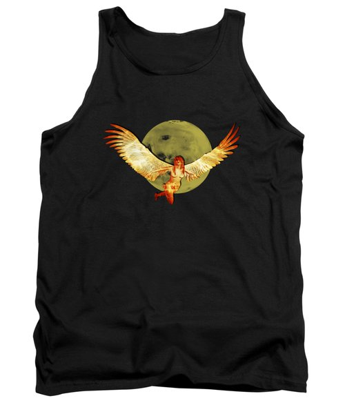 Angel And The Moon Tank Top