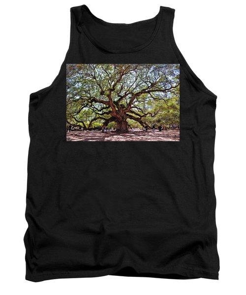 Angel Oak Tree 009 Tank Top by George Bostian