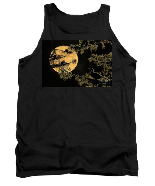 Tank Top featuring the photograph Anhingas In Full Moon by Bonnie Barry