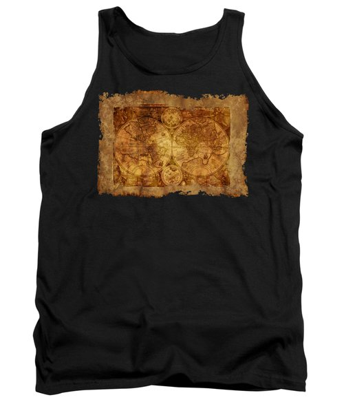 Antique Map Of The World Tank Top