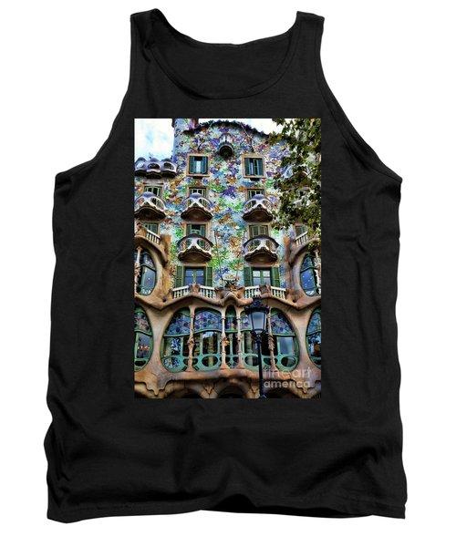 Antoni Gaudi's Casa Batllo Barcelona Spain  Tank Top