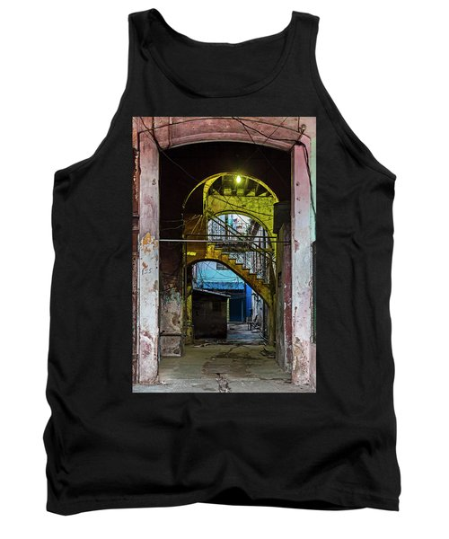 Tank Top featuring the photograph Apartment Enrance Havana Cuba Near Calle C by Charles Harden
