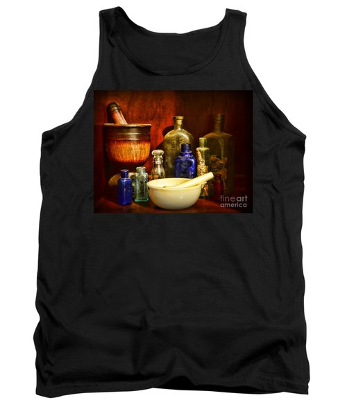 Apothecary - Tools Of The Pharmacist Tank Top by Paul Ward