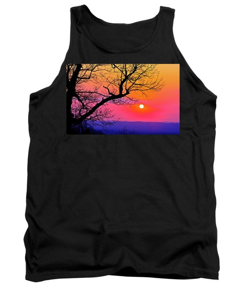 Appalcahian Sunset Tree Silhouette  #1 Tank Top