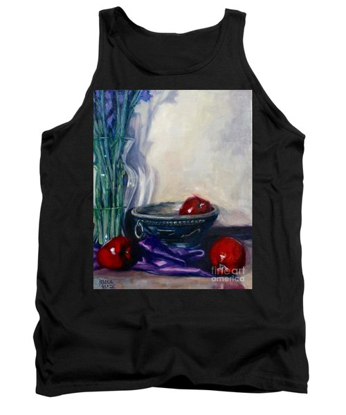 Tank Top featuring the painting Apples And Silk by Rebecca Glaze