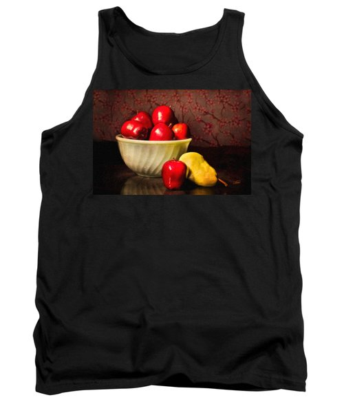 Apples In Bowl With Pear Tank Top
