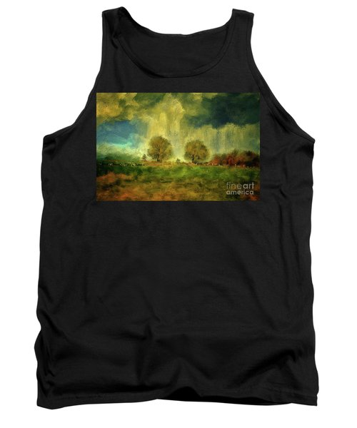 Tank Top featuring the digital art Approaching Storm At Antietam by Lois Bryan