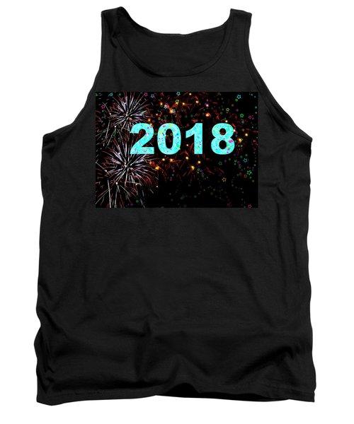 Aqua 2018 Fireworks Happy New Year Tank Top