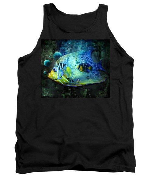 Aqua Fantasy Art World Tank Top
