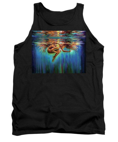 Aquarian Rebirth II Divine Feminine Consciousness Awakening Tank Top