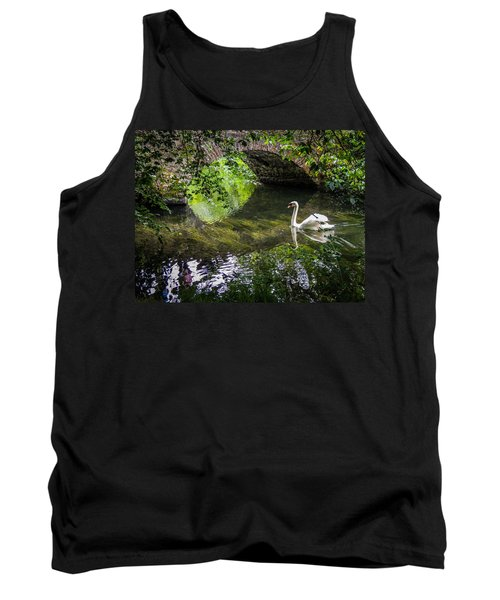 Arched Bridge And Swan At Doneraile Park Tank Top