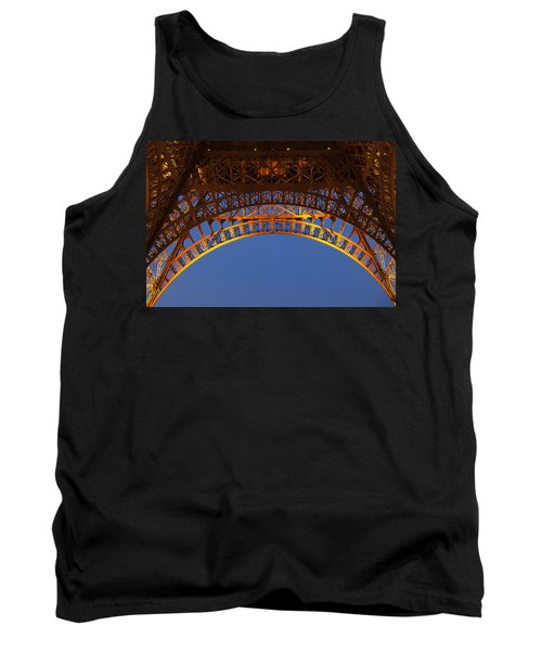 Tank Top featuring the photograph Arches Of The Eiffel Tower by Andrew Soundarajan