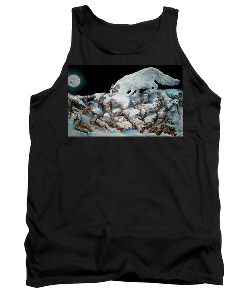 Tank Top featuring the painting Arctic Encounter by Sherry Shipley