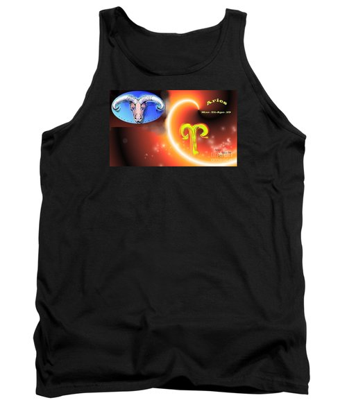 Tank Top featuring the painting Aries by The Art of Alice Terrill