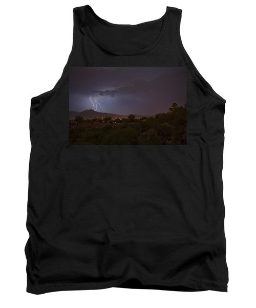 Tank Top featuring the photograph Arizona Monsoon Lightning by Dan McManus