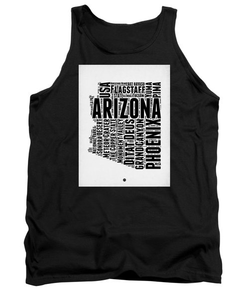 Arizona Word Cloud Map 2 Tank Top