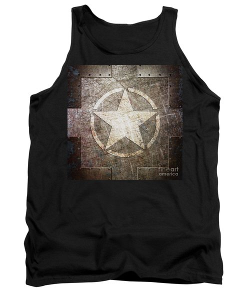 Army Star On Steel Tank Top