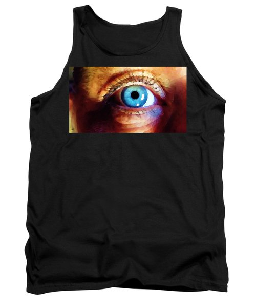 Tank Top featuring the digital art Artist Eye View by Shelli Fitzpatrick