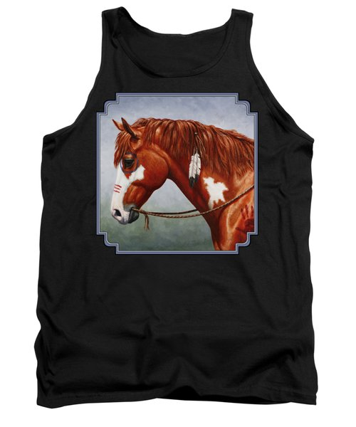 Native American War Horse Tank Top by Crista Forest