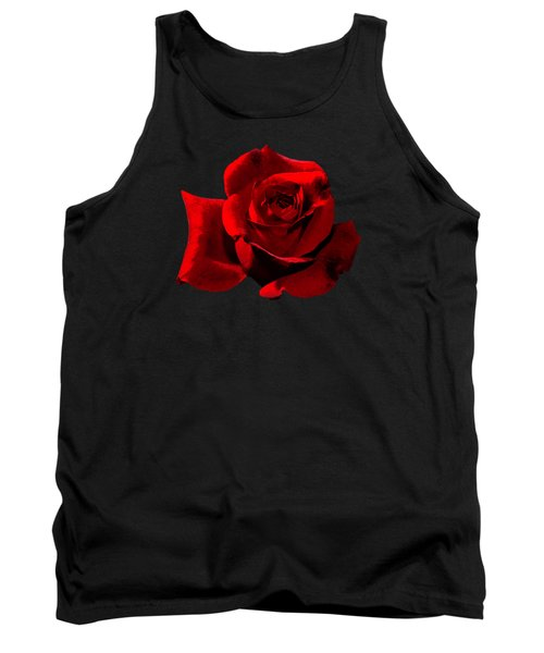 Tank Top featuring the photograph Simply Red Rose by Phyllis Denton