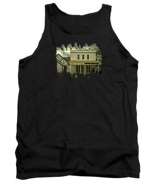 Tank Top featuring the photograph The Eagle Theater And Skalet Family Jewelers Old Sacramento by Thom Zehrfeld