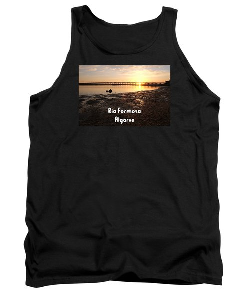 Sunset And Wooden Bridge In Ludo Tank Top