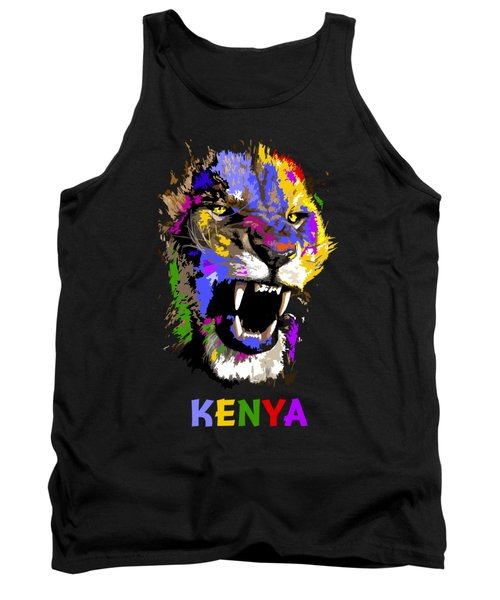 Tank Top featuring the painting Cat Snarl by Anthony Mwangi