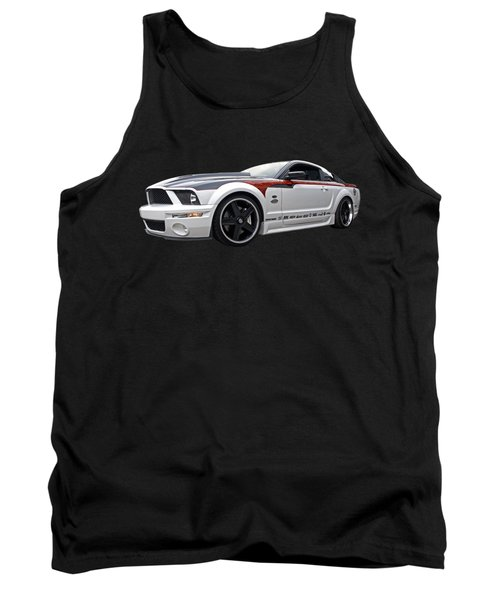 Mustang Gt With Flame Graphics Tank Top