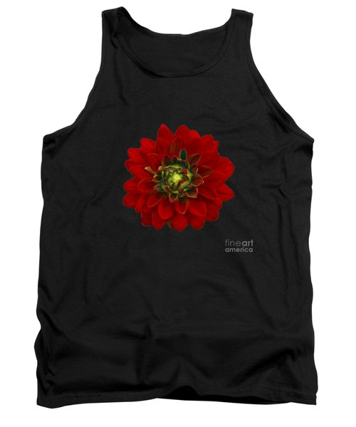 Red Dahlia Tank Top by Michael Peychich