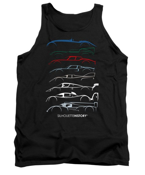 24 Hours Race Cars Silhouettehistory Tank Top