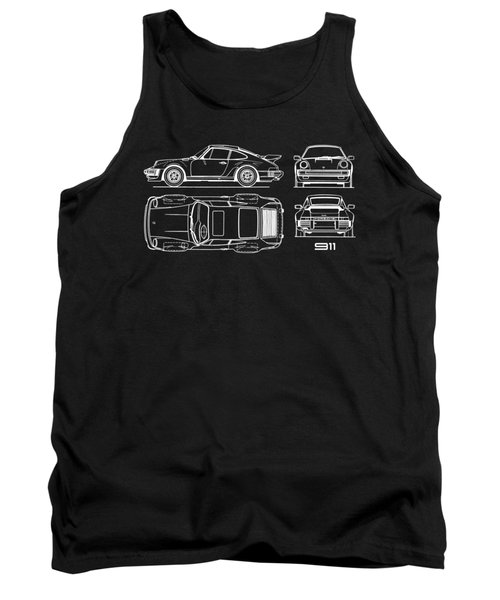 The 911 Turbo Blueprint Tank Top