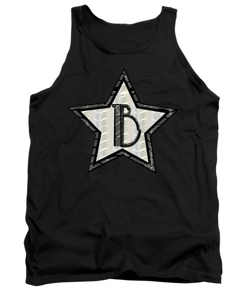 Star Of The Show Art Deco Style Letter B Tank Top by Cecely Bloom