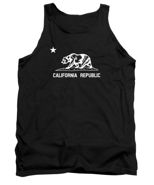 The Bear Flag - Black And White Tank Top by War Is Hell Store